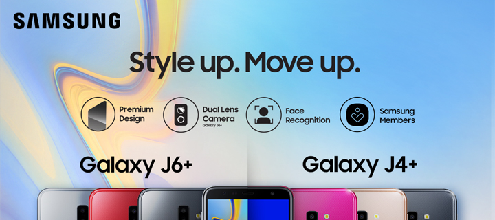 Stand-out in Style with the SAMSUNG Galaxy J6+ and J4+