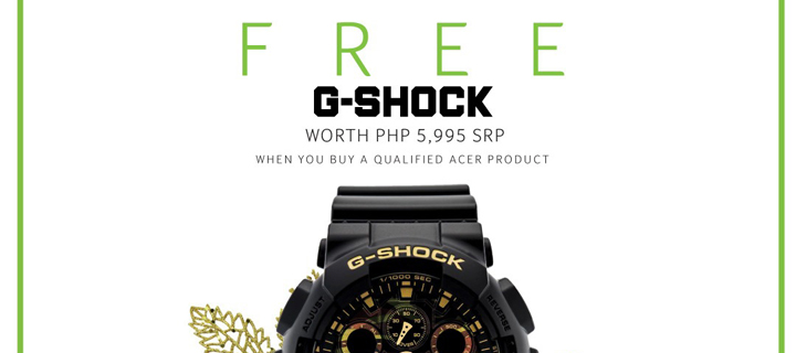 ACER extends the Holidays with G-Shock Partnership