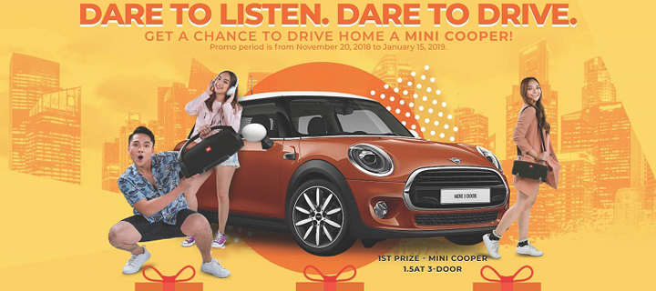 Listen and Drive Away To 2019 in a MINI Cooper with JBL