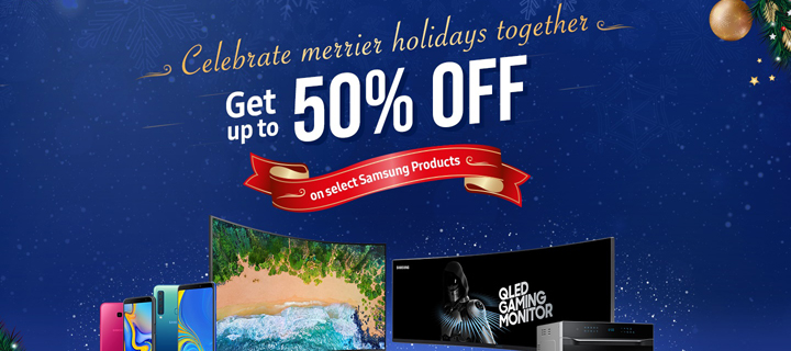 Samsung offers discounts up to 50% at Lazada's Grand Year End Sale