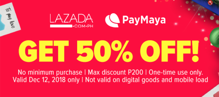 Go crazy on 12-12 with back-to-back discounts and cashbacks when you #ShopPaMore with PayMaya!
