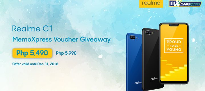 Realme goes all-out this Christmas, announces flash voucher for MemoXpress and Dec 19 Flash Sale on Lazada