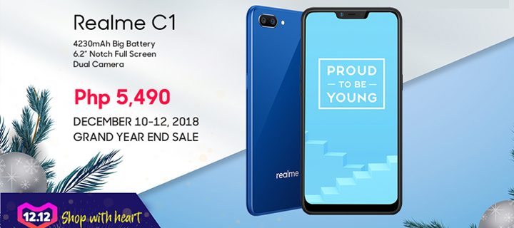 Realme Philippines offers wide-activities for Lazada 12.12 including whole-day sale of PHP 5,490 for Realme C1