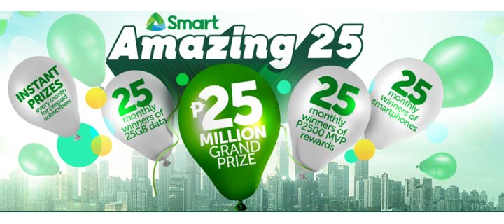 Smart celebrates 25th anniversary with biggest raffle promo for subscribers