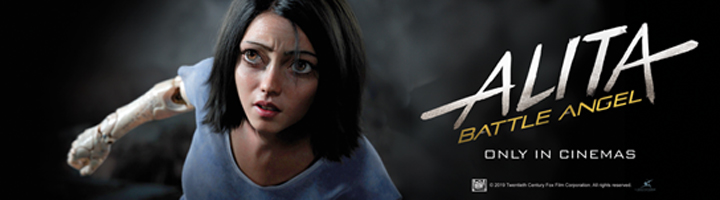 AOC partners with Twentieth Century Fox to Promote Release of Alita: Battle Angel.