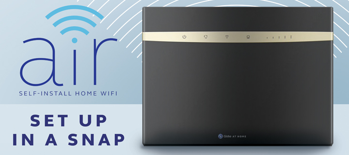 Introducing Globe At Home Air: Your First High-Speed DIY Internet at Home