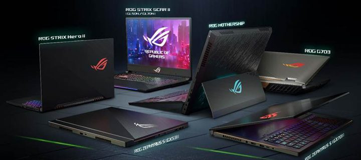 ASUS Republic of Gamers Launches Full Range of NVidia GeForce RTX Powered Laptops at CES 2019