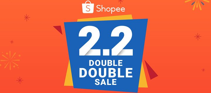 Get set for double the discounts at Shopee 2.2 Double Double Sale