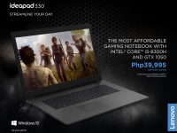 Get the Lenovo IdeaPad Gaming 330 (Intel Core i5-8300H, GTX 1050) for only PHP 39,995