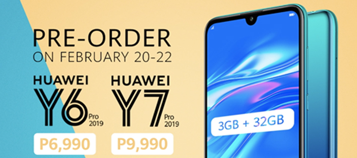 Pre-Order the Huawei Y6 Pro 2019 and Y7 Pro 2019 via Lazada and get awesome freebies worth PHP 2,990!