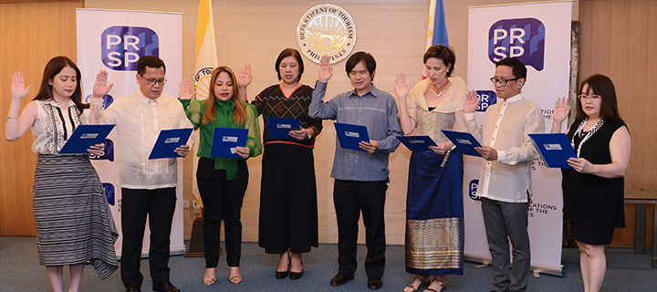 2019-2020 PRSP Board of Directors inducted: DOT Sec. Bernadette Romulo-Puyat leads oath-taking ceremony