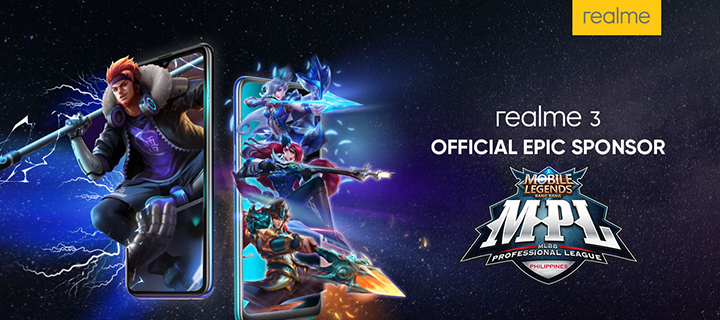 Realme Philippines is the official Epic Sponsor of the Mobile Legends: Bang Bang Professional League Season 3
