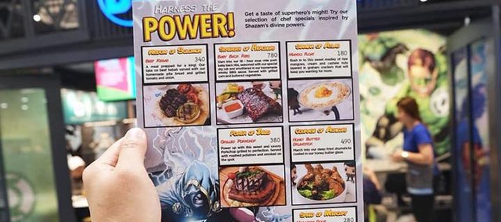New DC Cafe Shazam! Menu