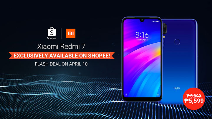 Enjoy Redmi 7 price cut on April 10 Shopee Flash Deal
