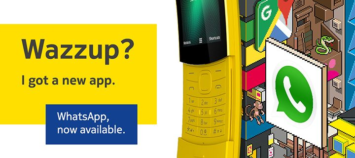 Nokia 8110 welcomes WhatsApp to the Store