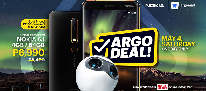 Nokia 6.1 gets P1,500 off at Argomall sale on May 4