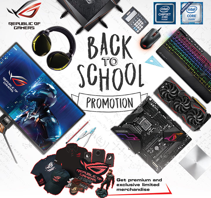 ASUS ROG bundles premium items for the back-to-school season
