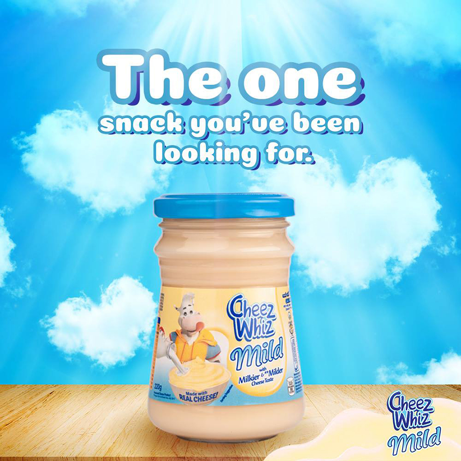 Now available - Cheez Whiz Mild, with a milkier and milder cheese taste.