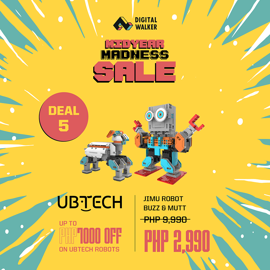 Get up 90% off on selected items from June 12-16, 2019, from 10am-10pm at Digital Walker Santolan Town Plaza.