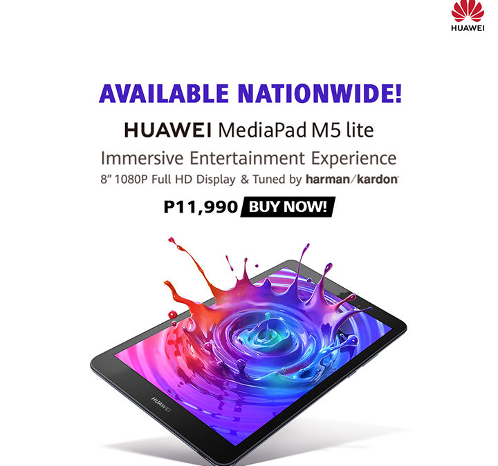 "Get an Immersive Entertainment and Terrific Sound Experience with the new HUAWEI MediaPad M5 Lite 8"" and HUAWEI FreeBuds Lite"