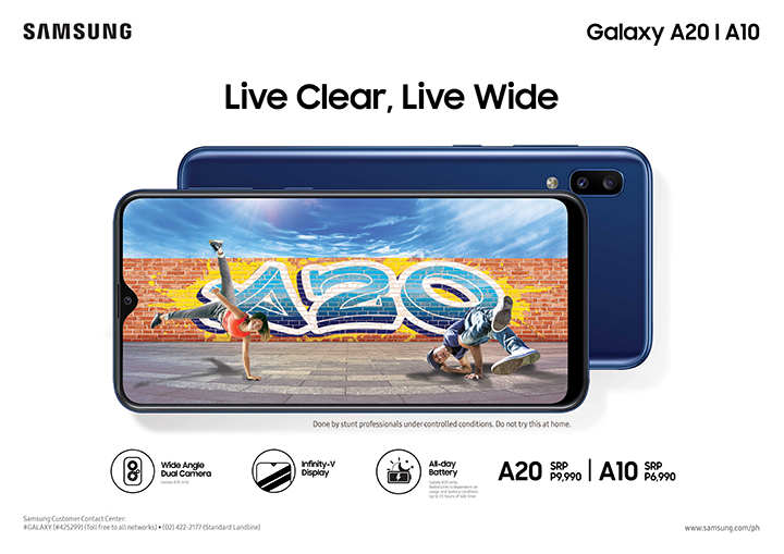 Live Clear, Live Wide: SAMSUNG Galaxy A20 and A10, now available to elevate everyday essentials!