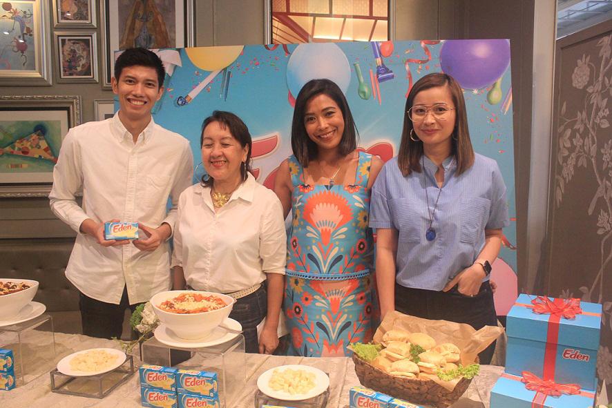 Raf Baradas - Eden Asst. Brand Manager, Nancy Lumen, Marie Field Faith, Chef Rosebud Benitez