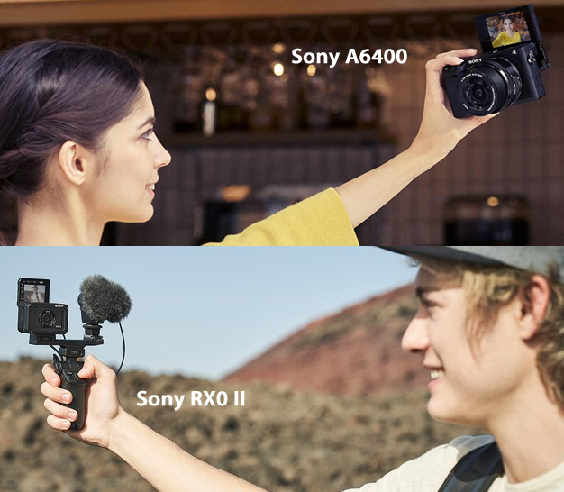 The Sony RX0 II and A6400 are feature-packed cameras for Vloggers