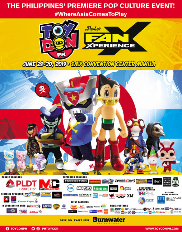 TOYCON POPLIFE FANXPERIENCE happens on June 28-30, 2019 at the SMX Convention Center, Pasay City.