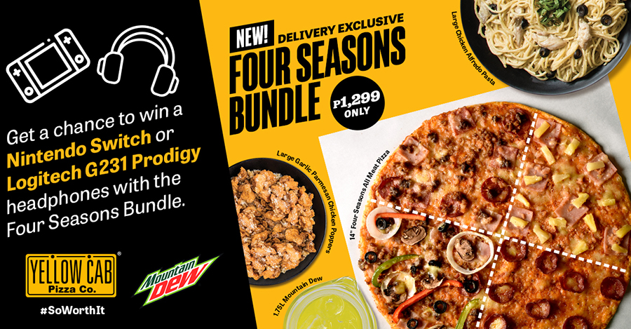 Game nights just got more fun with Yellow Cab's Four Seasons Bundle!