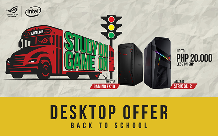 ASUS Republic of Gamers welcomes the school year with the STUDY ON GAME ON promo