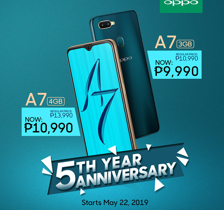 OPPO Celebrates 5th Anniversary with an Enticing Offer for OPPO A7