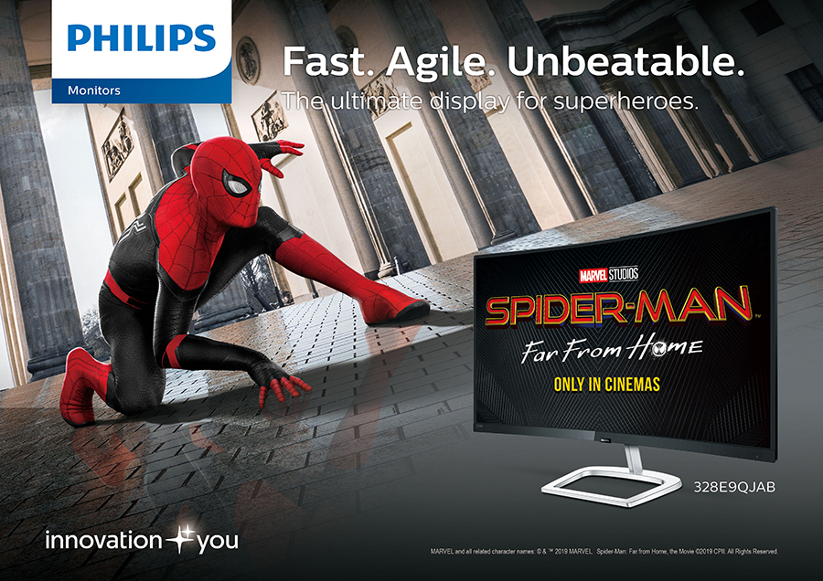 Swinging by the Spider-Man: Far From Home movie screenings with Philips Monitors