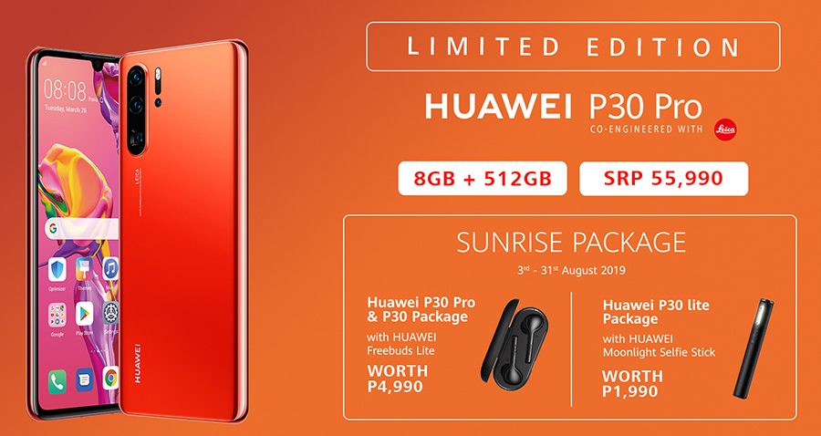 Limited Edition 512GB Huawei P30 Pro Amber Sunrise now available.