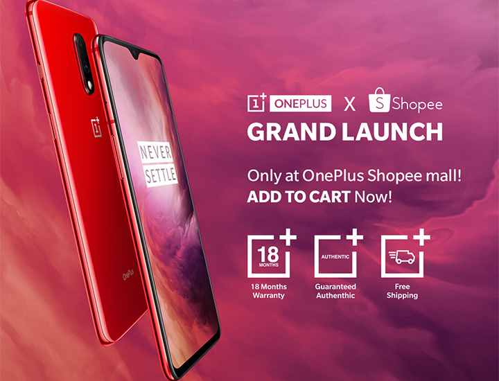 OnePlus 7 x Shopee Grand Launch! Get as much as P3,000 OFF! on your OnePlus 7
