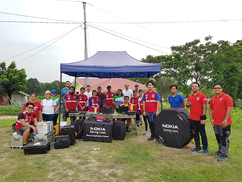 PRC, Nokia, Smart test use of drones for disaster response