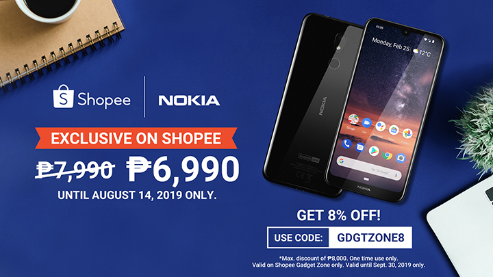 Get the latest Nokia 3.2 for only P6990, available exclusively on Shopee