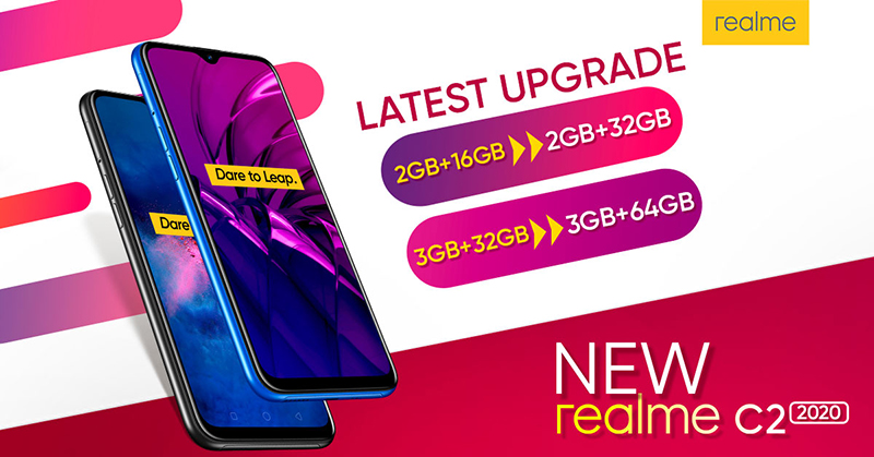 Double the storage, double the fun with the new realme C2 2020