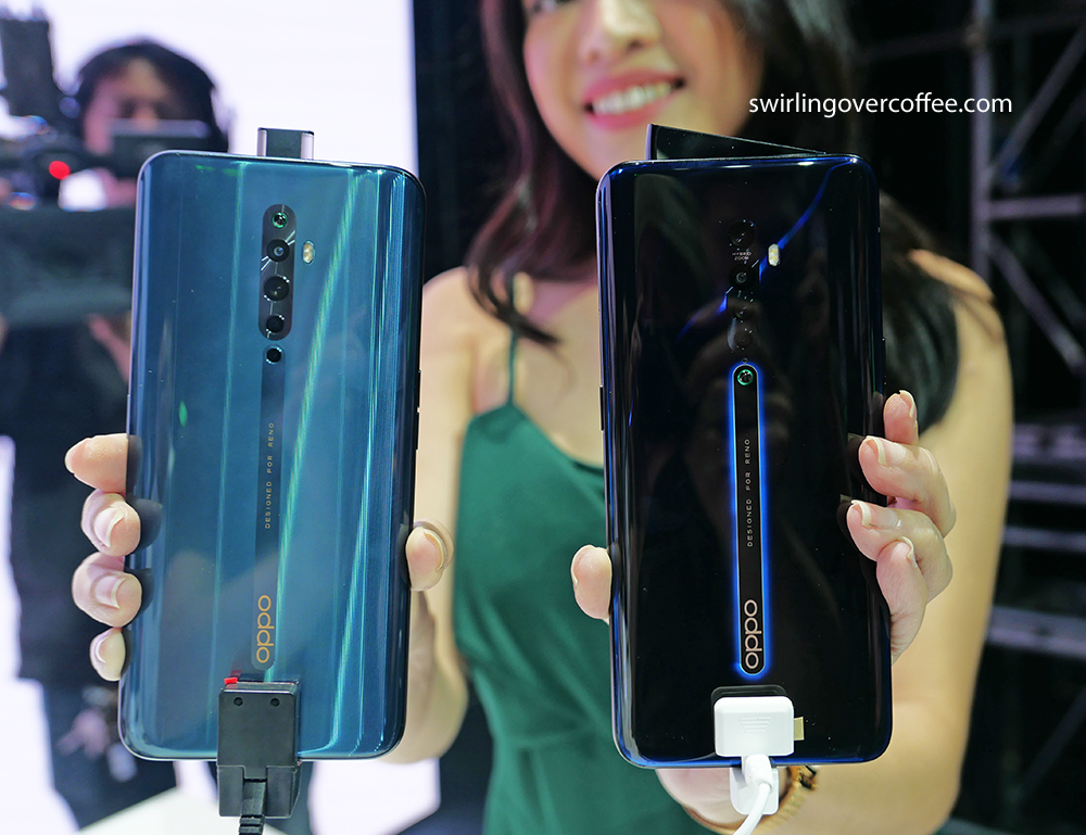 OPPO Reno2 and OPPO Reno2 F side by side