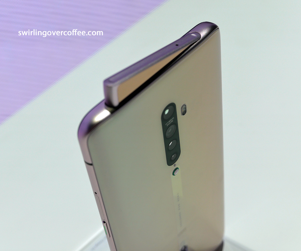 OPPO Reno2 with a shark's fin-like pop up camera