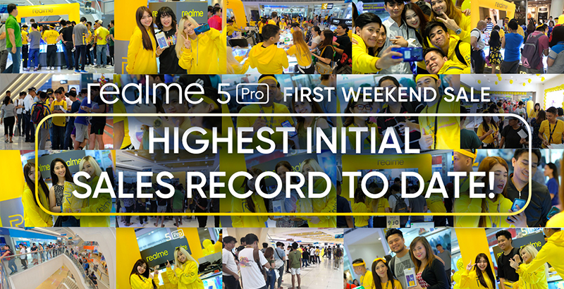 Realme Philippines makes biggest introductory offline sales record with realme 5 Pro