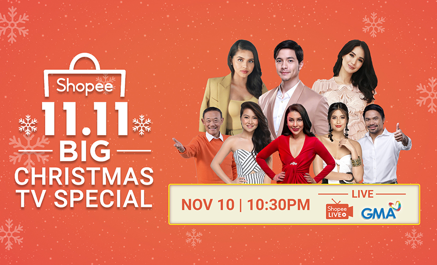 Shopee Holds its First-Ever 11.11 Big Christmas TV Special  starring Alden Richards, Maine Mendoza, and Heart Evangelista