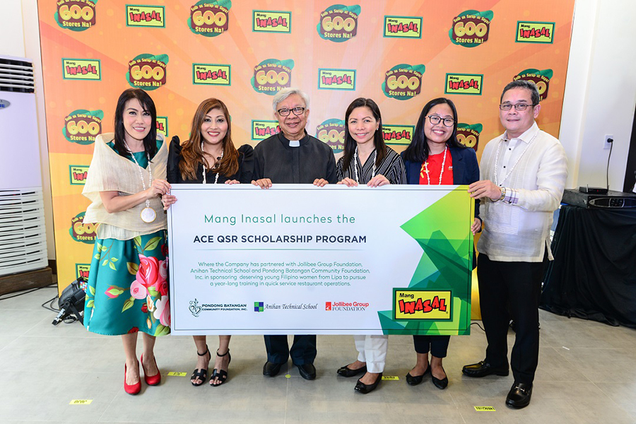 Mang Inasal Launches ACE QSR Scholarship for Deserving Young Women of Lipa