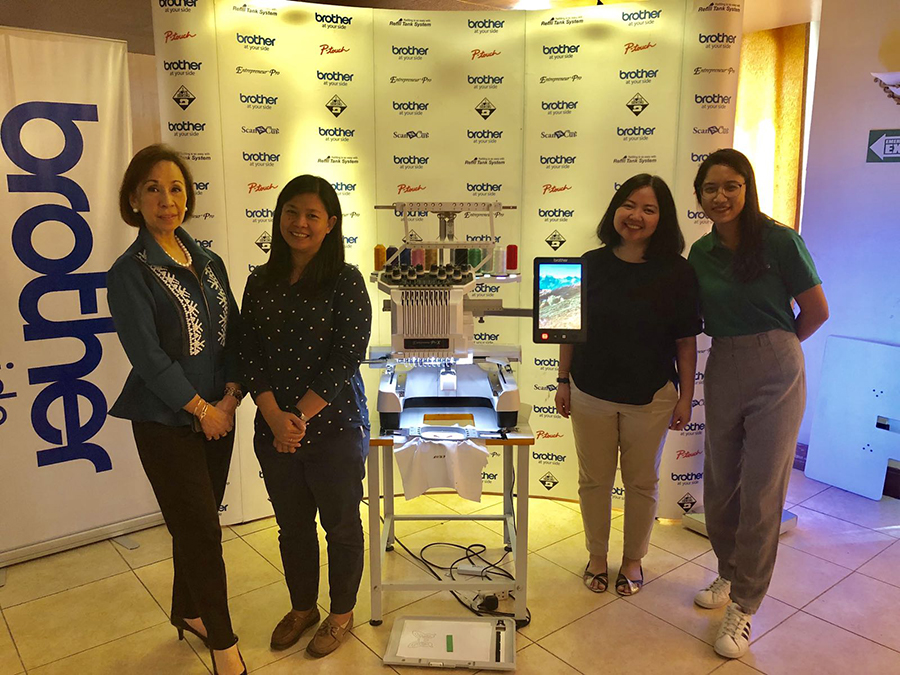 From left to right: GoNegosyo Angelpreneur, Elenor Garcia, Product Specialist of Brother Philippines, Jennifer Vallecera, Channel Sales Executive, and Jannelle Turija from GoNegosyo