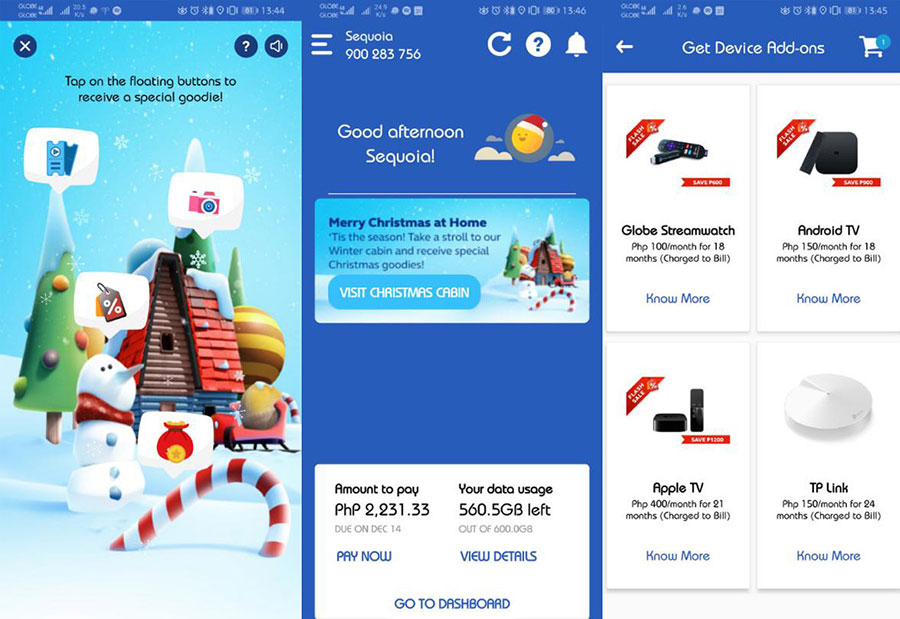 Get Great Holiday Treats via the Globe at Home App!