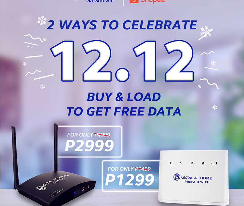 2 ways to celebrate Shopee's 12.12 Big Christmas Sale with Globe at Home Prepaid