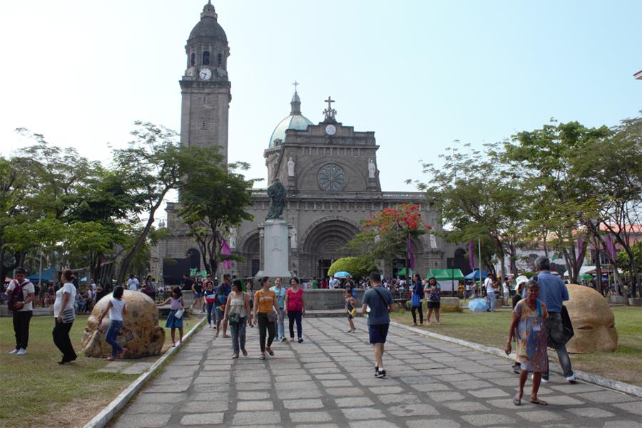 The Manila Cathedral at Intramuros, Manila