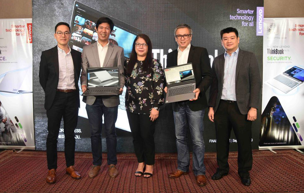 L-R: Joe Fung, Commercial Marketing Lead, Lenovo Central Asia Pacific; Francis Judan, Product Manager for Commercial, Lenovo Philippines; Anna Abola, Marketing Manager, Lenovo Philippines; Michael Ngan, General Manager, Lenovo Philippines; Joe Ng, SMB Segment Lead, Lenovo Central Asia Pacific.
