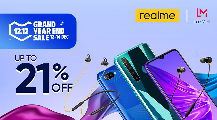 realme Buds 2 and realme Buds Wireless to Be Launched at Lazada 12.12, With Smartphone Markdown up to 21%