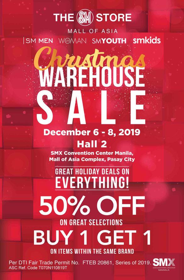Enjoy 50% of Buy 1 Get 1 Free at SM Warehouse Sale