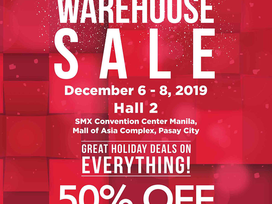 Get 50% off or Buy 1 Get 1 Free at the Christmas Warehouse Sale